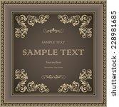 vintage frame with floral... | Shutterstock .eps vector #228981685