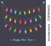 fairy party light bulbs  happy... | Shutterstock .eps vector #228984601
