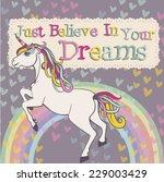 Unicorn With A Rainbow Vector....