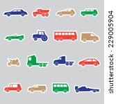 simple cars color stickers... | Shutterstock .eps vector #229005904