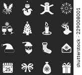 vector christmas icons  | Shutterstock .eps vector #229008001