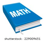 Math Book  Blue Covers With...