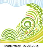 nature pattern card vector... | Shutterstock .eps vector #229012015