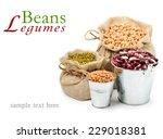 chick pea  mung beans  kidney... | Shutterstock . vector #229018381