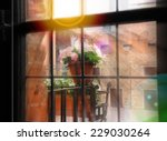 Flowers On  Balcony In Rays Of...