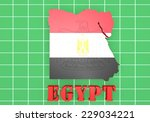 3d map illustration of egypt... | Shutterstock . vector #229034221