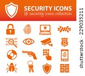 security icons | Shutterstock .eps vector #229035211