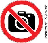 no photo   no photography sign...   Shutterstock .eps vector #229049509