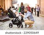 handsome hipster modern... | Shutterstock . vector #229050649