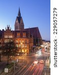 Stock photo hannover germany november old town hall and marktkirche hannover lower saxony 229057279