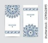 set of two ethnic banners.... | Shutterstock .eps vector #229062895