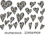 vector hearts | Shutterstock .eps vector #229069909