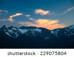 alpenglow on clouds over a... | Shutterstock . vector #229075804