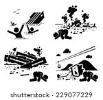 disaster accident tragedy of... | Shutterstock .eps vector #229077229