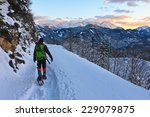 Mountaineer Descending From A...