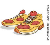 Vector Cartoon Red And Yellow...