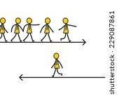 businessman choose and walk on... | Shutterstock .eps vector #229087861