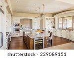 beautiful kitchen interior in... | Shutterstock . vector #229089151