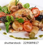 the fried seafood with... | Shutterstock . vector #229089817