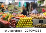 fruits and vegetables on... | Shutterstock . vector #229094395