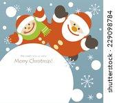 santa claus and little boy | Shutterstock .eps vector #229098784
