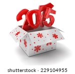 new year 2015 in box  clipping