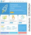 website template  flat... | Shutterstock .eps vector #229109614