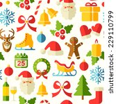christmas vector seamless... | Shutterstock .eps vector #229110799