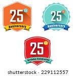 25 year birthday celebration... | Shutterstock .eps vector #229112557