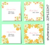 wedding invitation cards with... | Shutterstock .eps vector #229122247