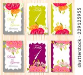 wedding invitation cards with... | Shutterstock .eps vector #229125955