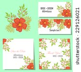 wedding invitation cards with... | Shutterstock .eps vector #229126021