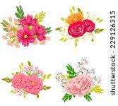flower set | Shutterstock .eps vector #229126315