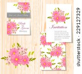 wedding invitation cards with... | Shutterstock .eps vector #229127329