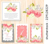 wedding invitation cards with... | Shutterstock .eps vector #229128229