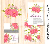 wedding invitation cards with... | Shutterstock .eps vector #229129675