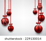 Set Of Red Christmas Balls...