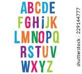 funny alphabet letters. | Shutterstock .eps vector #229144777