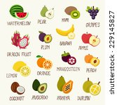 fruits collection | Shutterstock .eps vector #229145827