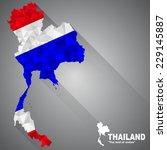 thailand flag overlay on... | Shutterstock .eps vector #229145887