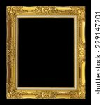 antique golden frame isolated... | Shutterstock . vector #229147201