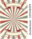 kraft paper retro poster. a... | Shutterstock .eps vector #229148599