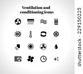 set of ventilation and... | Shutterstock .eps vector #229150225