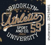 athletic vintage graphic for t... | Shutterstock .eps vector #229154851
