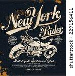 vintage motorcycle t shirt... | Shutterstock .eps vector #229156411