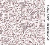 hand drawn ethnic seamless... | Shutterstock .eps vector #229179541
