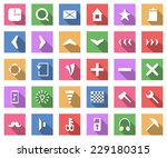flat icon set  vector...
