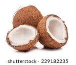 Two Coconut One Of Which Split...