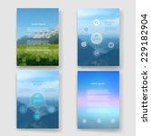 set of modern design minimal... | Shutterstock .eps vector #229182904
