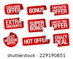 hot super offer  sale stickers... | Shutterstock .eps vector #229190851